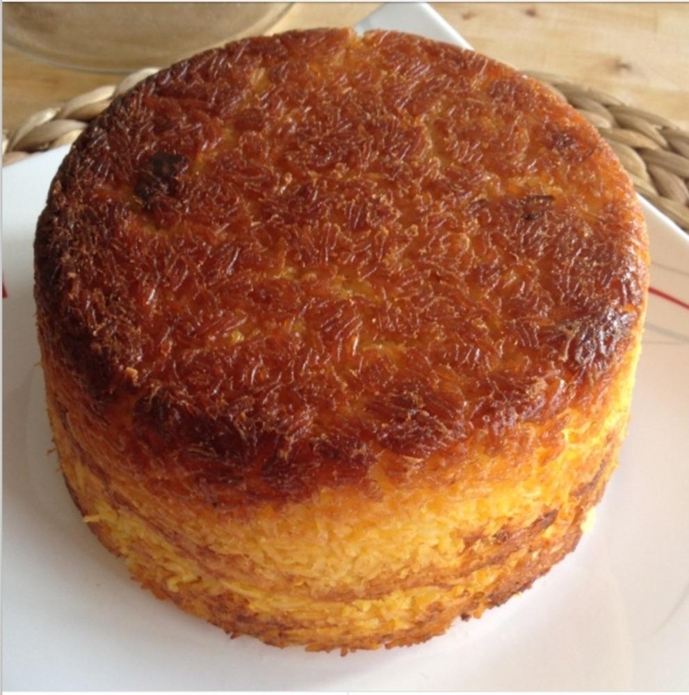 Tah-cheen (Marinated Chicken Layered in Saffron Rice) (1/2)
