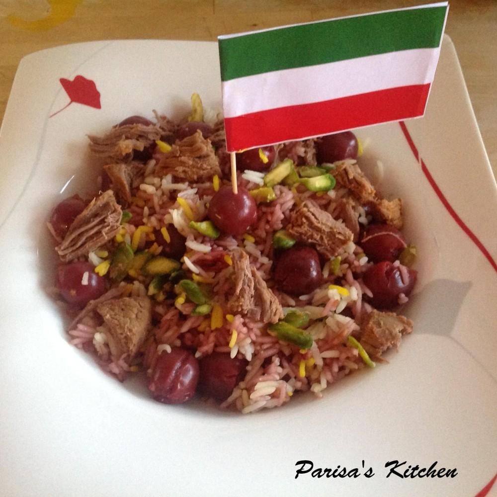 Saffron Rice with Morello Cherries (Albaloo Polo) (1/6)
