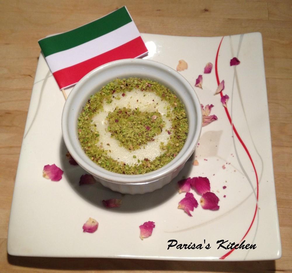 Ice in Paradise (Rosewater Rice Blancmange or Yakh-dar-Behesht) (1/6)