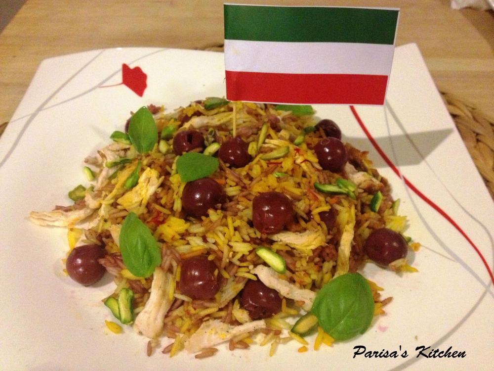 Saffron Rice with Morello Cherries (Albaloo Polo) (3/6)