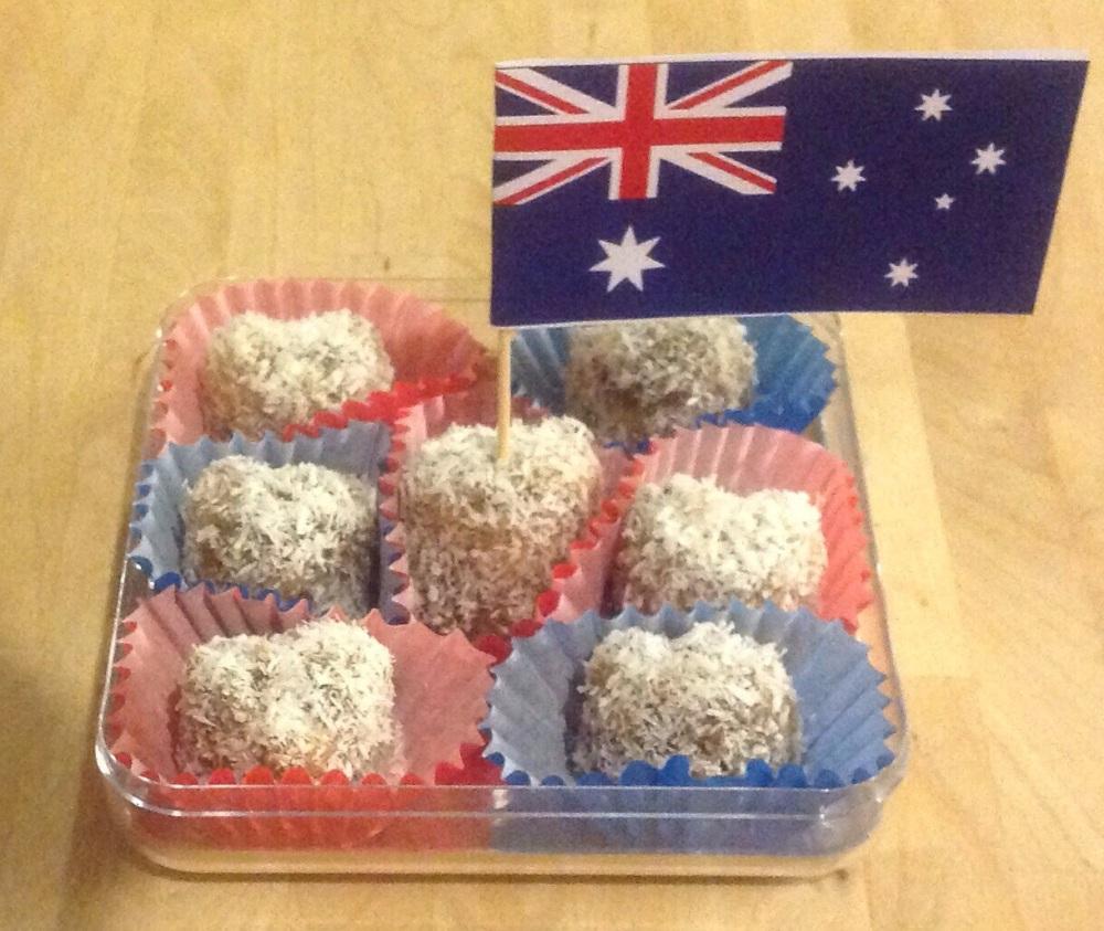 Healthy Aussie Lamingtons- Kahlua + Chocolate + Coconut= YUM! (1/6)