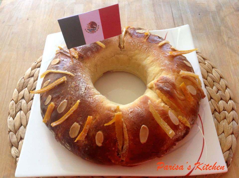 Rosca de Reyes (Mexican Three Kings Bread)-Recipe here: http://parisaskitchen.com/2014/12/17/rosca-de-reyes-mexican-three-kings-bread/