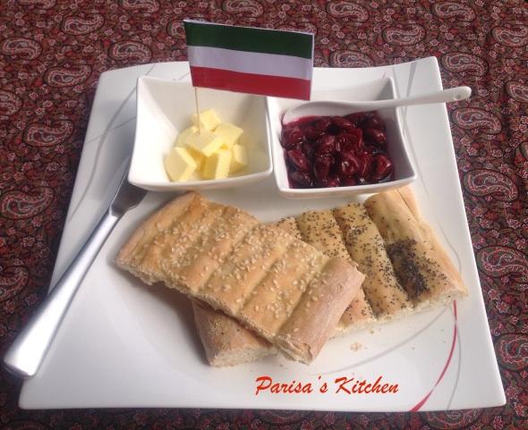 Barbari Bread (Persian Flat Bread)-Recipe here: http://parisaskitchen.com/2015/03/07/barbari-bread-persian-flat-bread/